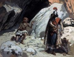 David et Saul dans la grotte Aquarelle et gouache de James Tissot (2).jpg