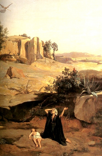 19 COROT HAGAR IN THE WILDERNESS.jpg