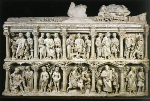 359 Sarcophage de Junius Bassus, face principale, Rome Sarcophagus of Junius Bassus, principal face, Rome.jpg