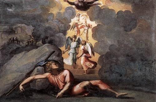 e rêve de Jacob ; RAPHAEL ; 1518 fresque; la loge de Raphaël, Palais du Vatican.jpg