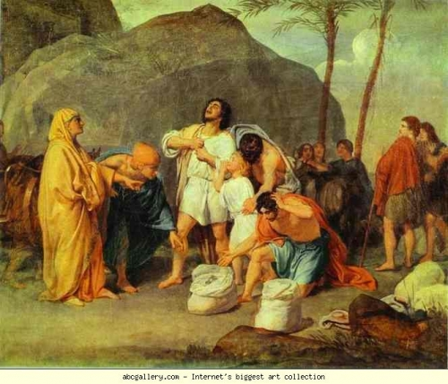 Alexander Ivanov - Joseph's Brothers Find the Silver Goblet in Benjamin's Pack 1831 Moscou.JPG