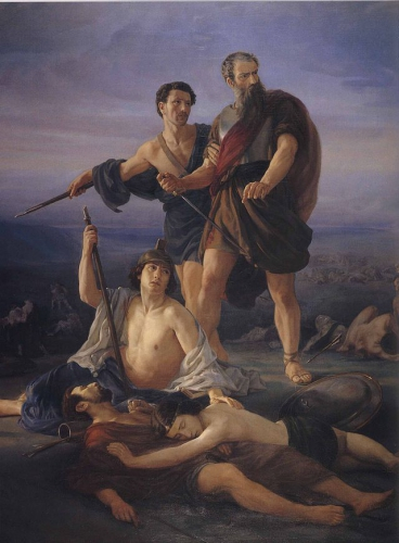 640px-Elie_Marcuse_saulDeath of King Saul 1848 by Elie Marcuse.jpg