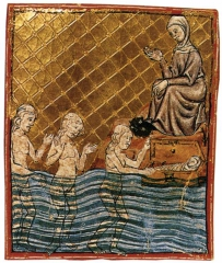 The Golden Haggadah moses finding.jpg