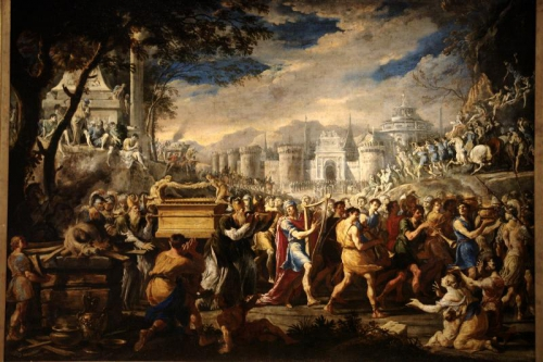 david ark Domenico_Gargiulo_David_bearing_the_ark_of_testament_into_Jerusalem.jpg