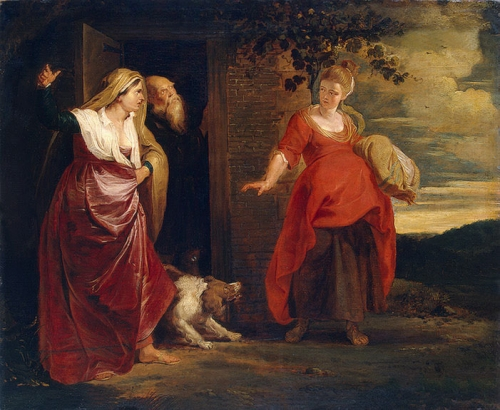 17 RUBENS HAGAR LEAVES THE HOUSE OF ABRAHAM.jpg