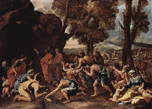 moses-striking-water-from-the-rock-1635 Poussin 133 97 Edimbourg.jpg