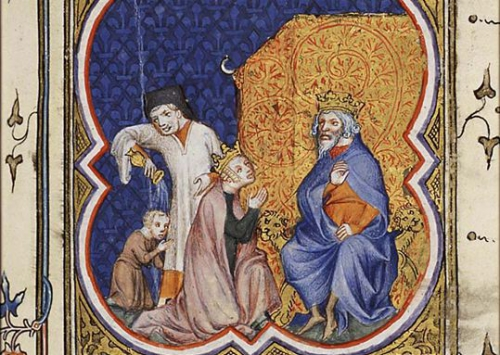 Bethsabée supplie David de faire de Salomon son héritier 14e.jpg