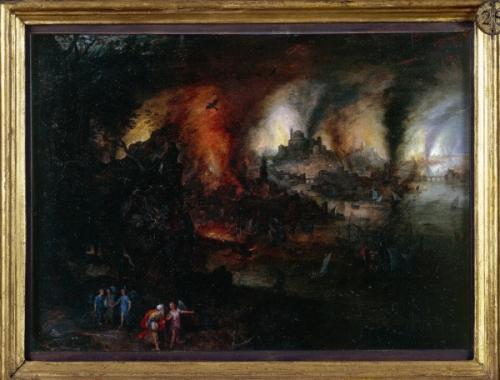 Bruegel ancien 1595 6 villages Sodome huile sur cuivre 26 35 Brera.jpg