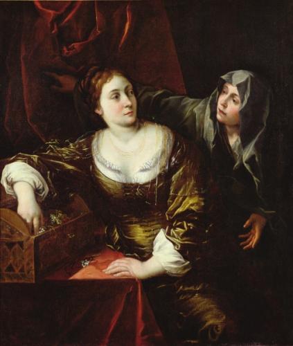ecole italienne 18e Nîmes ou femme et sa servante.jpg